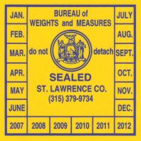 Weights Measures Yellow Seal
